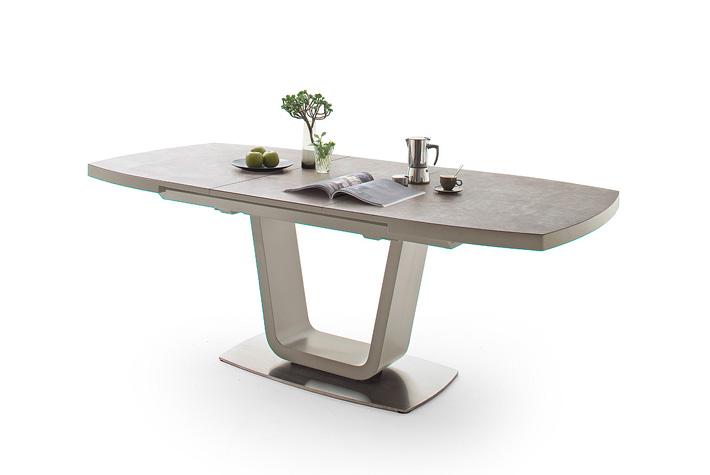 Esstisch mit Keramikplatte-Taupe ausziehbar 236058-001