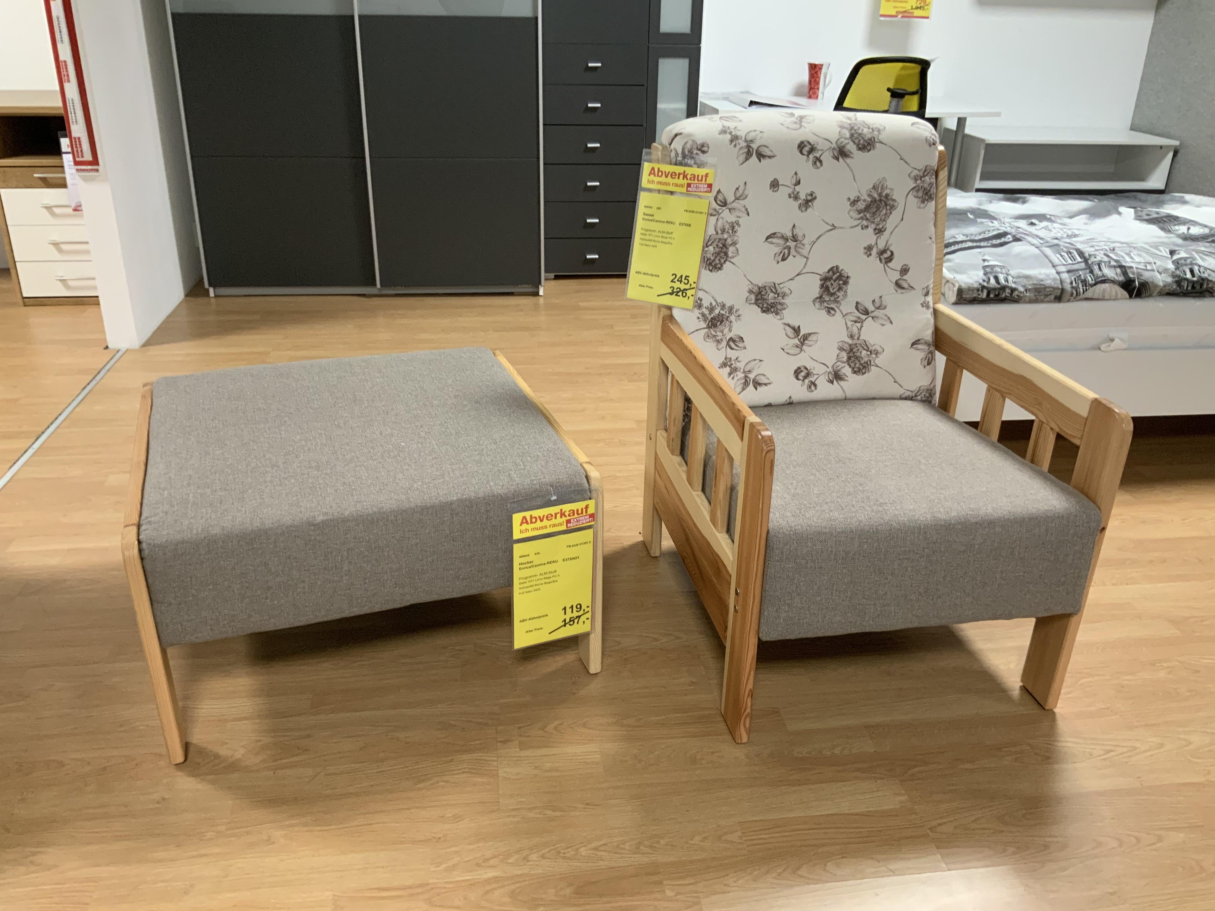 Sessel und Hocker Stoff Lomo Beige-Blumen 466045